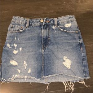 Zara XS denim mini skirt